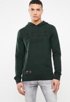 S.P.C.C. - Applique printed hoodie - green
