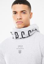 S.P.C.C. - Shawl neck hoodie - grey