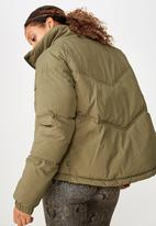 Cotton On - Hiking puffer jacket  - khaki