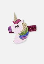 Cotton On - Party unicorn glitter hairclips - multi