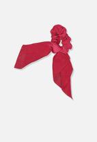 Cotton On - Scarf scrunchie - red