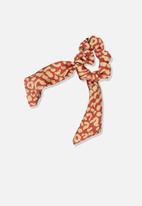 Cotton On - Scarf scrunchie - neutral & orange