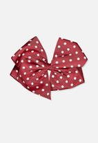 Cotton On - Statement desert spot bows - red