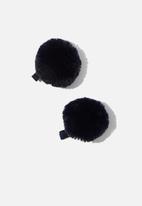 Cotton On - Hair pom pom clips - navy