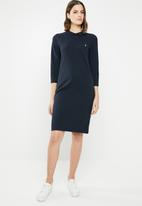 POLO - Ivy 3/4 sleeve golf dress - navy