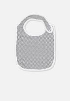 Cotton On - Geo spot bib - black & white