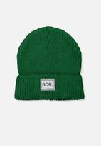 Cotton On - Winter knit beanie - green