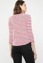New Look - Breton stripe top - red & white
