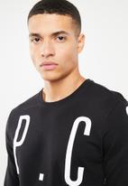 S.P.C.C. - Logo crew neck sweater - black