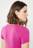 GUESS - Double crop tri tee - pink