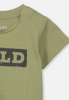 Cotton On - Jamie short sleeve tee - khaki