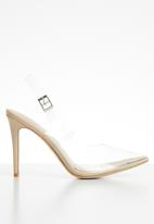 Public Desire - Ali transparent stiletto heel - neutral
