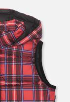 Cotton On - Billie puffer vest - red & blue