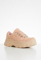 Public Desire - Raven flatform sneaker - pink