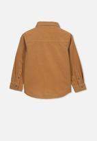Cotton On - Noah long sleeve shirt - tan
