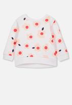 Cotton On - Billie happy floral sweater - white