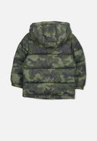 Cotton On - Frankie  camo puffer jacket - green & black