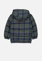 Cotton On - Frankie puffer jacket - navy & green