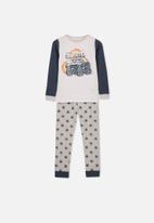 Cotton On - Jack boys long sleeve waffle pyjama - multi