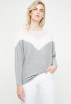 ONLY - Tilda long sleeve pullover knit - multi