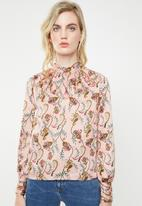 ONLY - Cassidy baroque printed blouse - pink