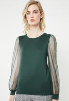 ONLY - Bonne long sleeve top - green
