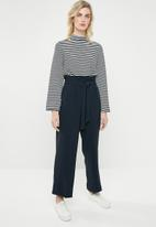 ONLY - High waist paperbag pants - navy