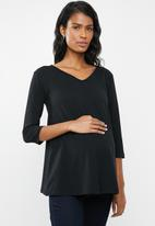 edit Maternity - Quality stretch v-neck top - black
