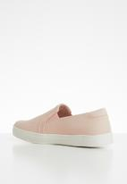 Call It Spring - Faux leather/mesh combo slip-on sneaker - pink