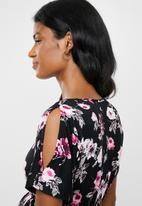 edit Maternity - Cold shoulder dress - multi