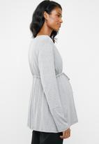 edit Maternity - Knit cardigan - grey