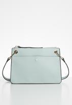 MANGO - Textured envelope bag - blue