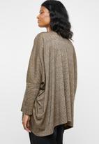 edit Maternity - Volume sweater - brown & black