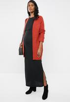 edit Maternity - Overlay maxi dress - black