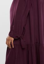 edit Maternity - Tiered peasant dress - burgundy