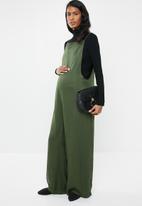 edit Maternity - Wide leg jumpsuit - green