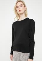 Superbalist - 2 pack puff sleeve top - black & tan