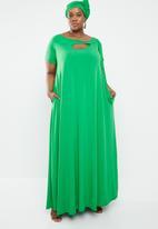 Plus-Fab - Watamu dress - green