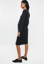 edit Maternity - V-neckline  bodycon dress - black