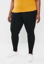 STYLE REPUBLIC PLUS - High waist curve legging - black