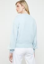 Vero Moda - Dalo long sleeve V-neck cardigan - blue