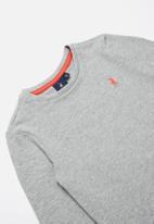 POLO - Classic long sleeve tee - grey
