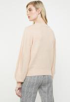 Vero Moda - Dalo long sleeve V-neck cardigan - peach