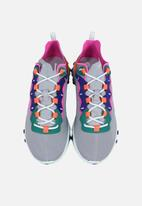 Nike - Wmns React Element 55 - wolf grey/laser fuchsia-hyper crimson