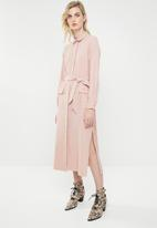 Superbalist - Utility long sleeve dress - pink