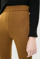 Superbalist - Premium stretch mid rise tregging with seam detail - tan