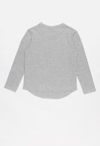 POLO - Ashley classic long sleeve tee - grey