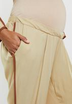 edit Maternity - Side stripe casual pants - brown