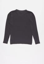 POLO - Boys Justin long sleeve V-neck pullover - charcoal