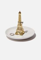 Typo - Novelty trinket tray - gold eiffel tower